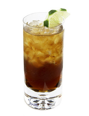 rum and coke lemon
